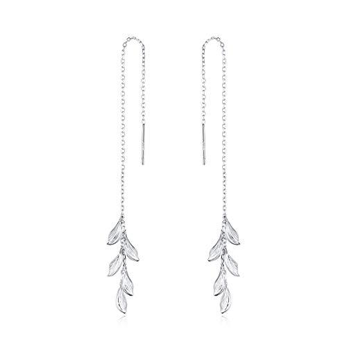 Pendientes de plata de ley 925 hojas para mujer insecto deslumbrante declaración hipoalergénica joyería regalos para niños