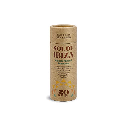 Sol De Ibiza Plastic Free Stick - Protector Solar Mineral Natural SPF50