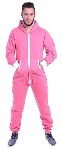 Colores lisos Onesie Newfacelook Mens Hoody todo en un zip Hoodie Mono …, rosa, Medium
