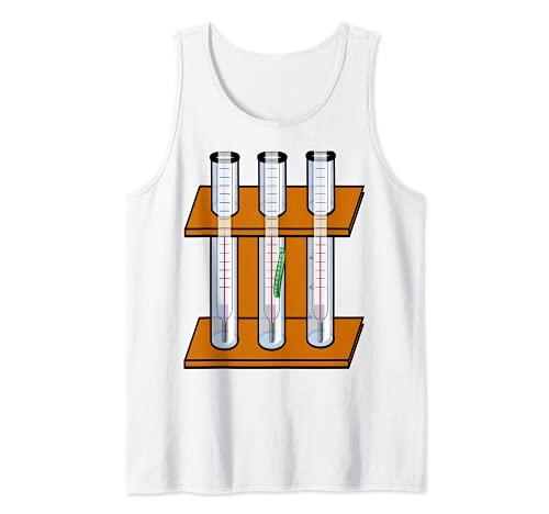 Técnica del laboratorio de química del estante del tubo Camiseta sin Mangas