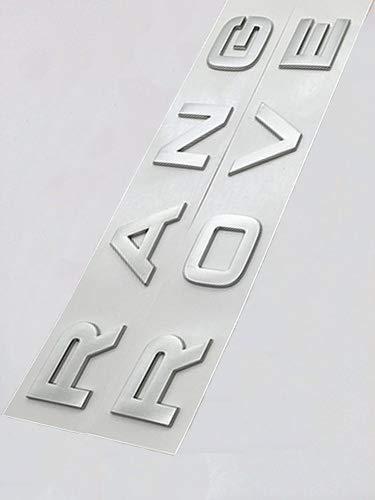 Chrome Range Rover Vogue Sport Evoque - Scritta in lingua inglese con stencil (argento)