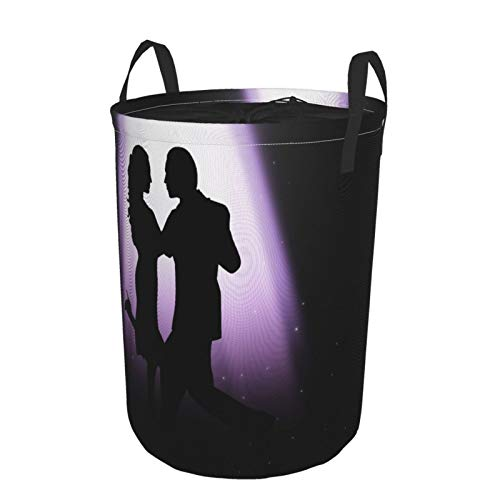 JOSENI Collapsible Large Clothes Hamper for Household,A Couple Dancing Under The Light,Storage Bin Laundry Basket Waterproof with Drawstring,14' x 19'