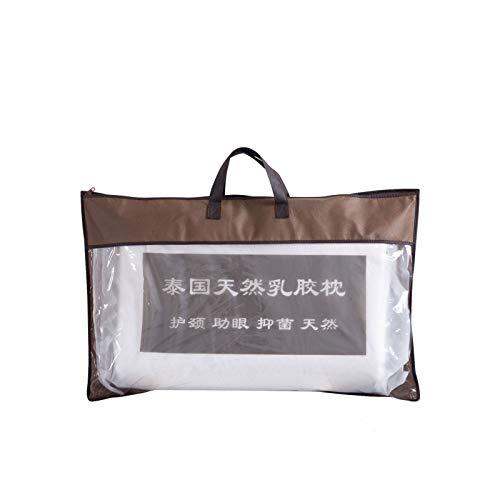 Almohada de masaje de partículas de látex, antialérgica, antibacteriana, antiácaros, almohada de látex puro (incluye forro interior) + bolsa