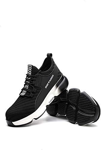 LBHH Zapatos de Trabajo Botas de Seguridad Zapatos de Seguridad Calzado de Seguridad Anti-Rotura y antiperforación,Volando Calzado de Trabajo Tejido Transpirable para Obra Zapatos de construcción