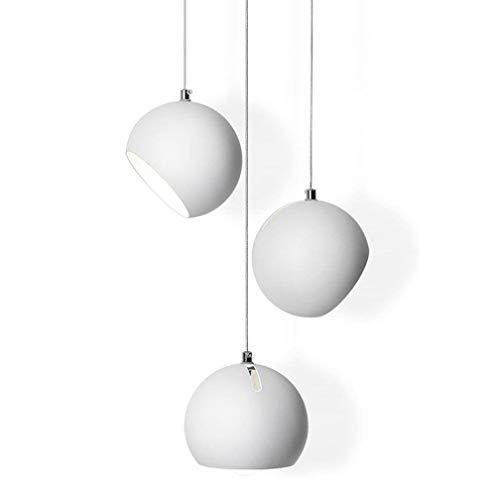 Lámpara colgante moderna comedor mesa de comedor lámpara colgante redonda de 3...