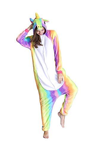 Schlafanzüge Einhorn Onesie Pyjama Jumpsuits Erwachsene Kind Overalls Nachtwäsche Schlaflosigkeit Flanell Anime Schlafoveralls Halloween Karneval Cosplay Kostüme Nachthemden Schlafoveralls für Unisex