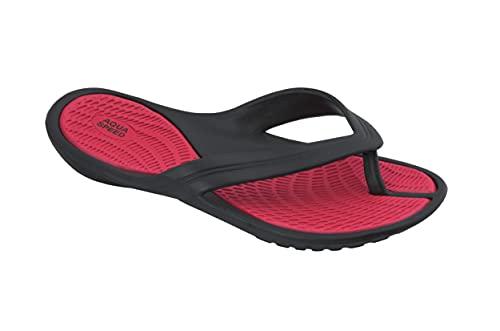 Aqua Speed Aruba u. Granada Damen Badesandalen, Farbe:Aruba/rot-schwarz, Größen:39