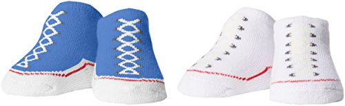 Converse Baby - Jungen Socken 2 Pack Booties, Blau (Oxygen Blue), 0-6 Monate