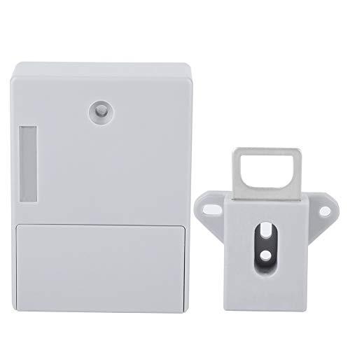 Cerradura del gabinete - Cerradura de puerta eléctrica cerradura digital de bricolaje - Instalación sin agujero desbloqueo RFID (batería no incluida)