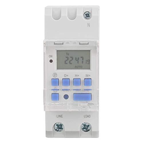 GNLIAN HUAHUA Cicly Timer Relay TM615H-2 microordenador electrónico Temporizador semanal LCD Digital programable Interruptor de Tiempo del relé de Control 220VAC Tablero Industrial