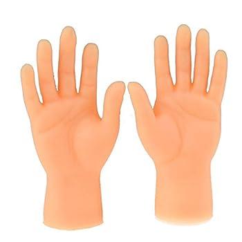 KLKLKL Screepy Halloween Mini Finger Hands Tiny Left Right Hand for Game Party Costume