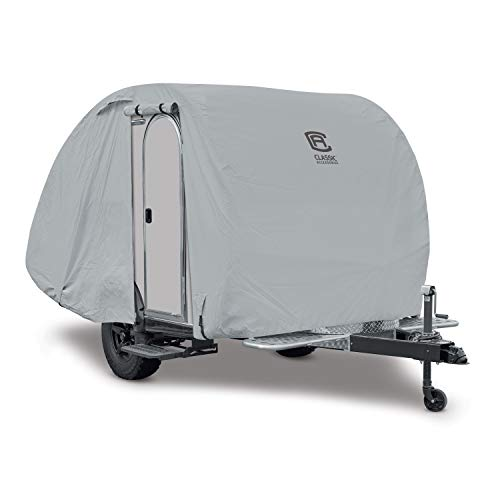 Classic Accessories - 80-399-161001-RT Over Drive PermaPRO Teardrop Trailer Cover, Fits 10' - 12'L x 6'W T@b & Clam Shell Trailers