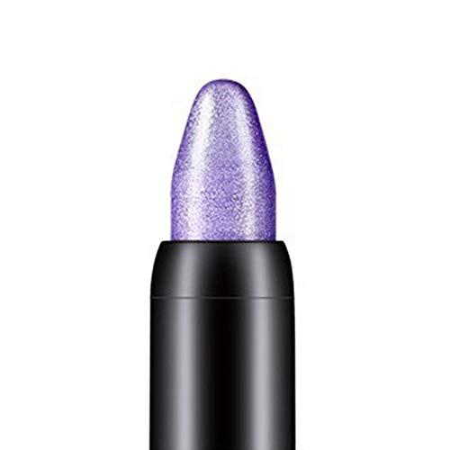 Gemini_mall Highlighter Lidschatten Bleistift Kosmetik Augen Make-up Glitzer Lidschatten Eyeliner Stift Geschenk Lila