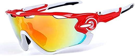 Outdoor gepolariseerde fietsbril UV400 bescherming sportzonnebril met 3 verwisselbare lenzen voor fietsen, vissen, hardlop...