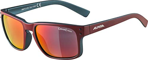 ALPINA KOSMIC Sportbrille, Unisex– Erwachsene, cherry matt-indigo, one size
