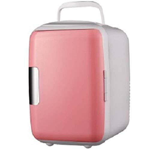 XKCQC Kühlbox mit Doppelspannung, 12 V/220-240 V, für Auto und Zuhause, tragbare Auto Kühl- und warme elektrische Kühlbox, 4 l DC Kühlbox für Reisen und Camping, Blau Rose