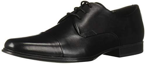 Calvin Klein Men's Dominick Oxford, Black Leather, 11 M US