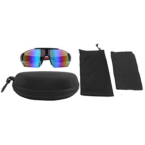 BOTEGRA Gafas de Sol de Ciclismo, Ciclismo Correr Gafas de conducción Lentes en Forma de Escudo Gafas de Sol Deportivas polarizadas Ciclismo Gafas de Moda para montañismo y Ciclismo