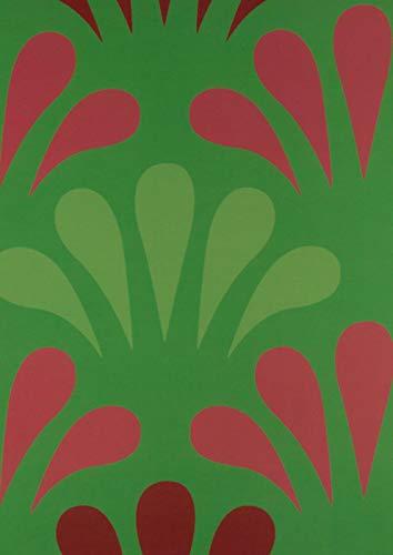 A4 Notitieboek Gelijnd Lijntjes Pegels of Druppels in Groen en Roze, 100 pagina's, 50 grams papier