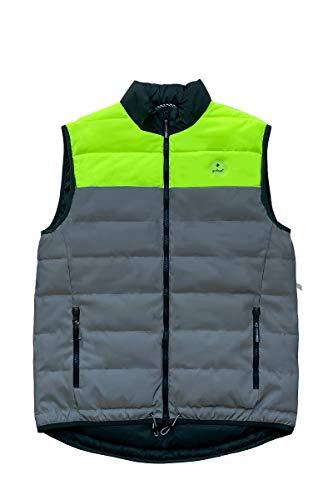 gofluo. Reverse Sicherheitsweste - Reflektorweste - Fluo Neon - Warnweste - Reflektierende Jacke - Reflektierende Weste - Sichtbar im Dunkeln für Wanderer, Joggen, Fahrrad, Motorrad - Grün - XL