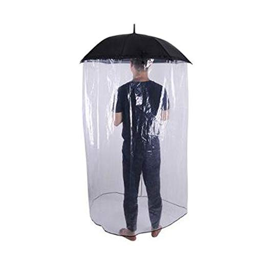 HBHHB Umbrella Sneeze Guard Windproof Thickened Double Transparent Full Body Cover Portable