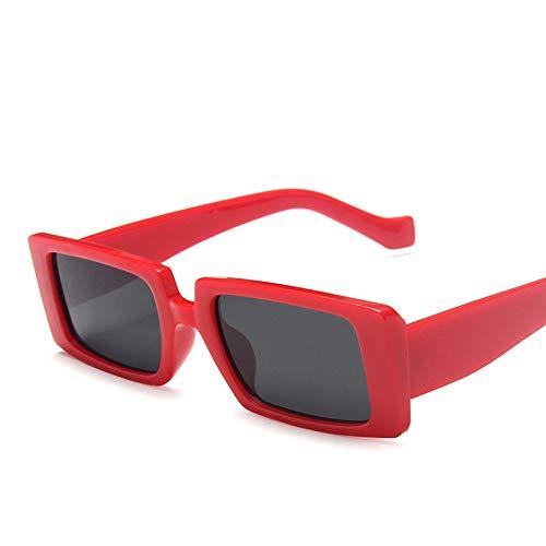 Gafas de Sol Gafas De Sol Cuadradas Retro De Viaje De Lujo Gafas De Sol Rectangulares Pequeñas Mujeres Hombres Vintage Femme C4