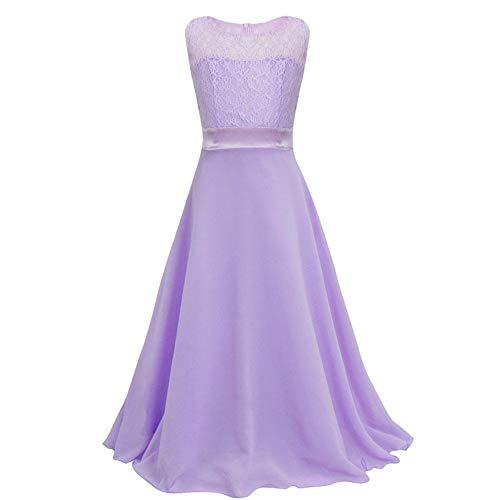 Vestido de novia de niña Niñas de verano sin mangas de malla...