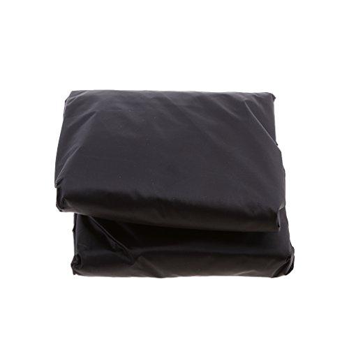 Cubierta de Almacenamiento Funda Impermeable contra Lluvia para Quad ATV Color Negro - Negro M
