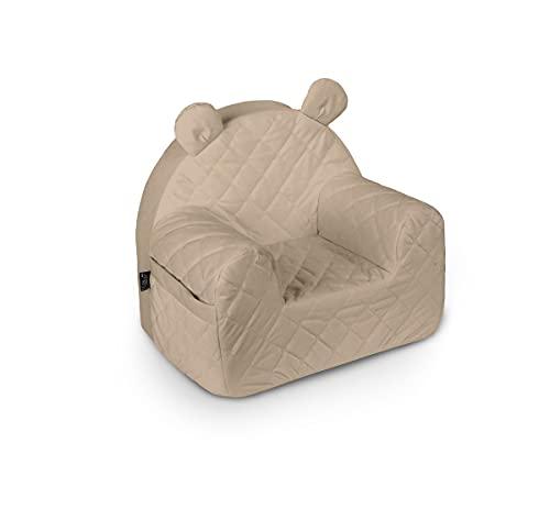 Baby Steps Kindersessel für Jungen Mädchen Kinder, Babysessel - 50x35x44 cm - Kindersitz Kindermöbel für Kinderzimmer Spielzimmer, Made in EU (Beige)