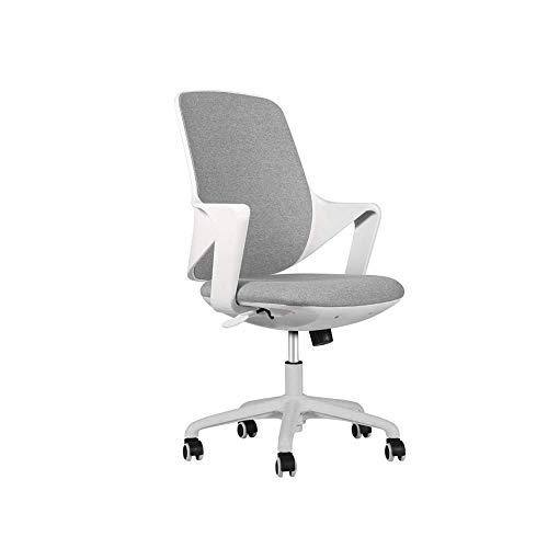 CHICAI Sedia da ufficio Computer Desk sedia Gaming - ergonomica con schienale medio cuscino lombare di sostegno con ruote confortevole Mesh corre la sede regolabile girevole di rotolamento casa esecut