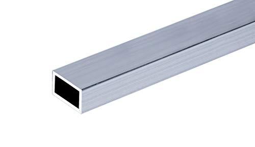 Aluminium Rechteckrohr Alu Profilrohr Walzblank Vierkantrohr Stange Aluprofil (40x20x2 mm - 2000 mm)