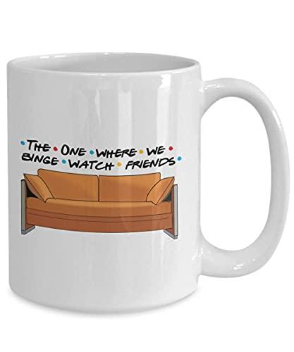 N\A Amigos de TV En el Que la Taza, Regalo de los Amigos del Ventilador, FriendsTV Show, Taza del Reloj Binge, Amigos Taza, Regalos de Amigos Mostrar temáticos, FriendsTV