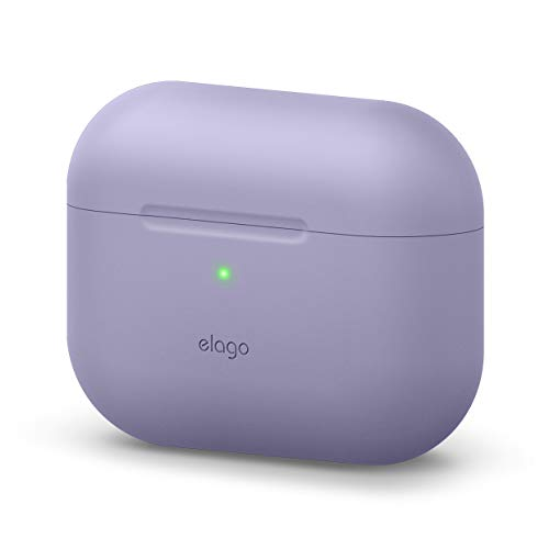 elago Original Case Compatible with Apple AirPods Pro Case - Protective Silicone Cover, Anti-Slip Coating, Precise Cutout, Supports Wireless Charging (Lavender Gray)