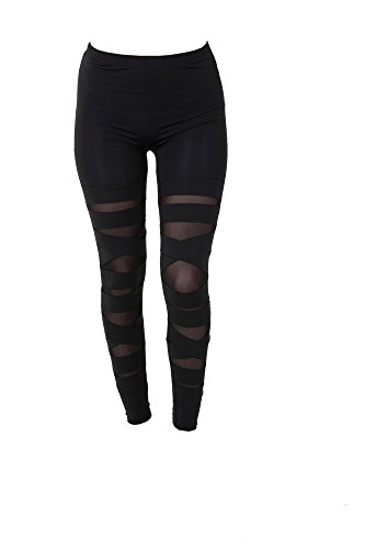 PunkJewelry Tattoo Damen Leggings Fashion Leggins Hose Supersexy Transparent Look Einheitsgrösse