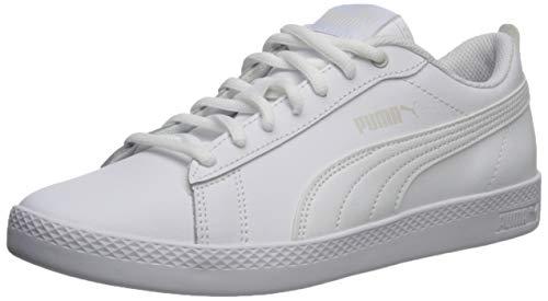 PUMA Women's Smash V2 Sneaker, White Whit, 7 M US