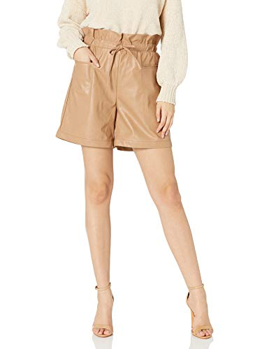 KENDALL + KYLIE Women's Vegan Leather Paperbag Shorts