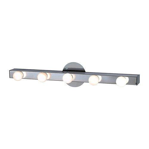2 x IKEA MUSIK - Lámpara de pared cromada