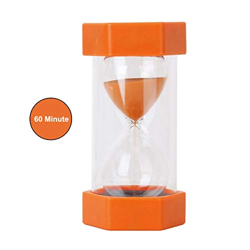 Best of Times, LLC 1 Hour Sand Timer , Cute Hourglass Timer Clock Perfect Kitchen Decor Glass Sandglass