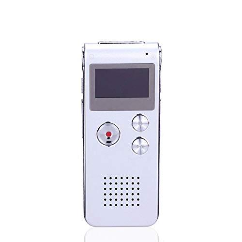 LYB 8G/16G Grabadora Espia Grabadora de Voz Digital Reproductor MP3 HD con Función de Reproducción Externa Grabadora Activada por Voz para Conferencias, Entrevistas, Reuniones y Más