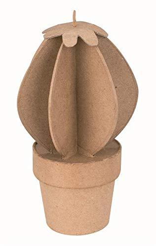 Papp-Kaktus rund 10,5x10,5x18 cm Pappfigur und Dekorationsartikel