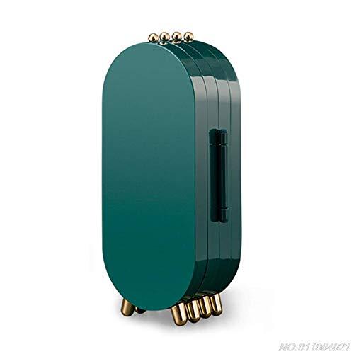 YHDNCG Caja de joyería,Caja de almacenamiento plegable de la joyería,Organizador de almacenamiento de joyería multicapa de joyería,Soporte de maquillaje a prueba de polvo