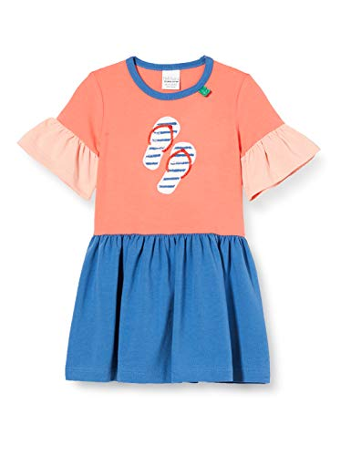 Fred'S World By Green Cotton Ocean Dress Robe, Multicolore (Coral 016164001), 95 (Taille Fabricant: 80) Bébé Fille