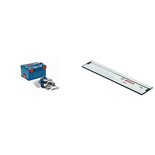 Bosch Professional 06016A2101 18V System Scie Circulaire sans Fil GKS 18V-57 G, Bleu & Rail de Guidage Professionnel FSN 1100 longueur 1,10 m