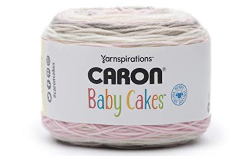 Caron Baby Cakes Self-Striping Yarn, 8.5 oz. / 240g, 560 Yards / 512 Meters (Dreamy Rose 294955-55017)