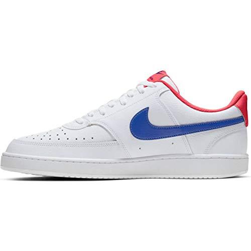 Nike Court Vision Low, Zapatillas de bsquetbol Hombre, White Game Royal Flash Crimson, 49.5 EU