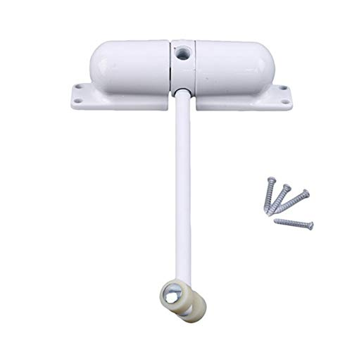 Z-Shine deursluiter, automatisch gemonteerde voorjaarsdeursluiter, brandvertragend, roestvrij staal verstelbaar oppervlak scherm deur sluiter Kleur: wit