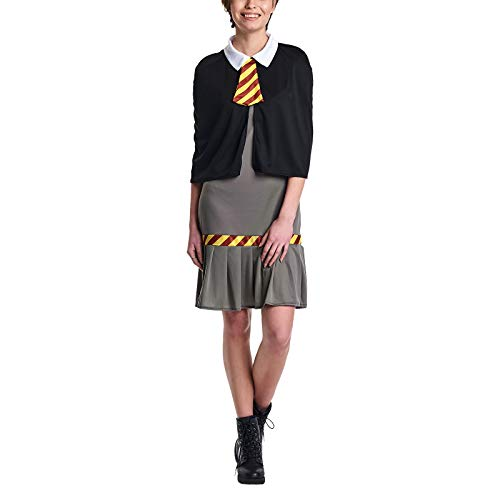 Harry-Potter-Wizard-School-Girl-School-Uniform-Women-Costume-Black-Grey-Dress-with-Cloak