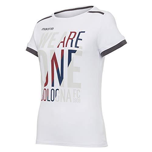 Macron BFC Merch Ca - Camiseta Woman de algodón Bia para Mujer Bologna FC 2020/21, Mujer, 58125695, Blanco, M