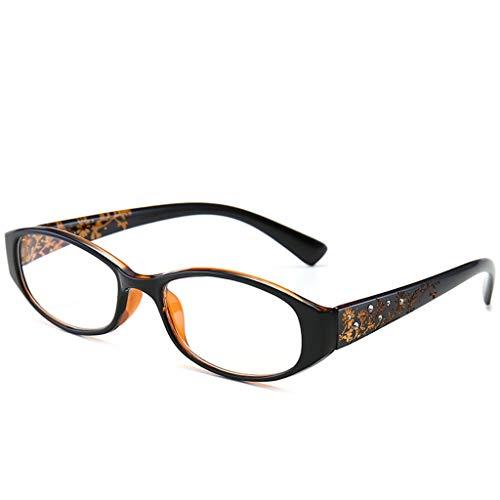 Limuzi leesbril voor dames, prachtige sculptuur, comfortabel, lichtblauw, anti-vermoeidheid, hars, HD glazen 3.00D Blue