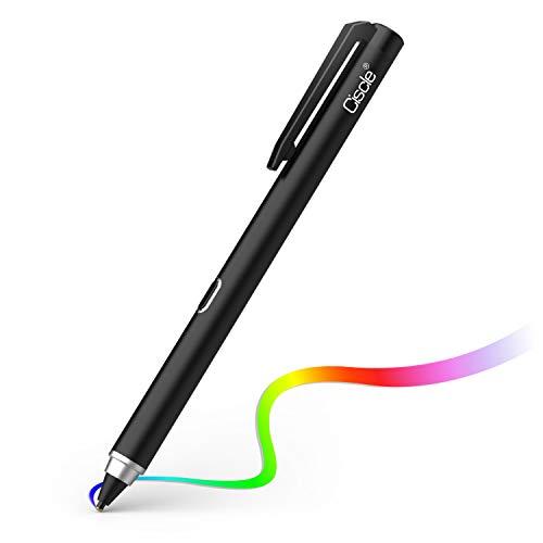 Digitaler Stylus Stift, Ciscle Stift mit 5 Min Auto Off und 1.5mm Feiner Kupfer Spitze, Aufladbarer Stylus Stift für Tablets Kompatibel mit Touch Screen Geräten wie Samsung, Android Tablets (Schwarz)